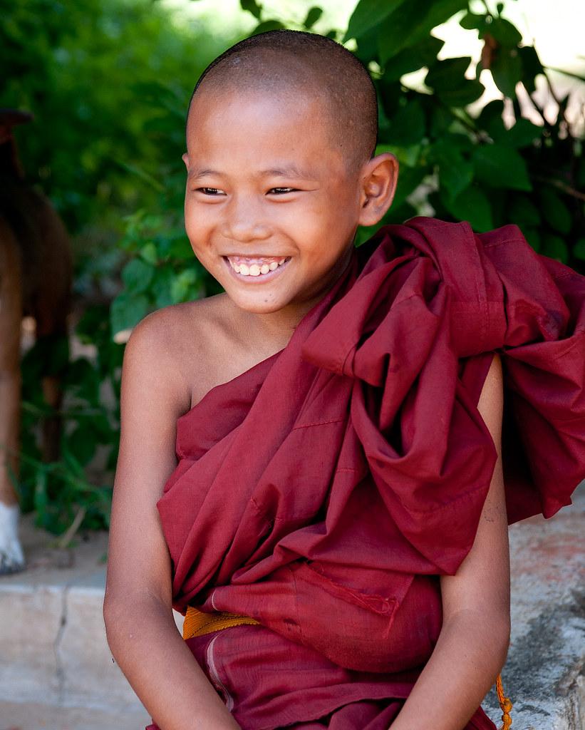 Electronic Recruitment Application Era Myanmar: Young Monk In Salay, Myanmar (Burma)