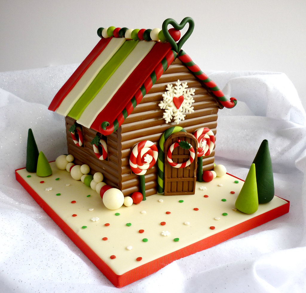 Chocolate Christmas Gingerbread House Made With 1 6kg Of