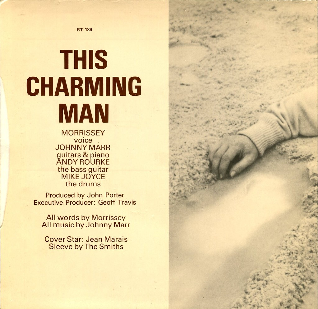 """the smiths this charming man single The smiths' second single of 1983, """"this charming man,"""" tells the story of a man who is picked up by a motorist after his bike tire pops the ambiguity of the characters' sexuality leaves the song very open to debate and speculation about the true meaning."""