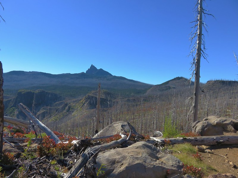 Three Fingered Jack beyond the Eight Lakes Basin