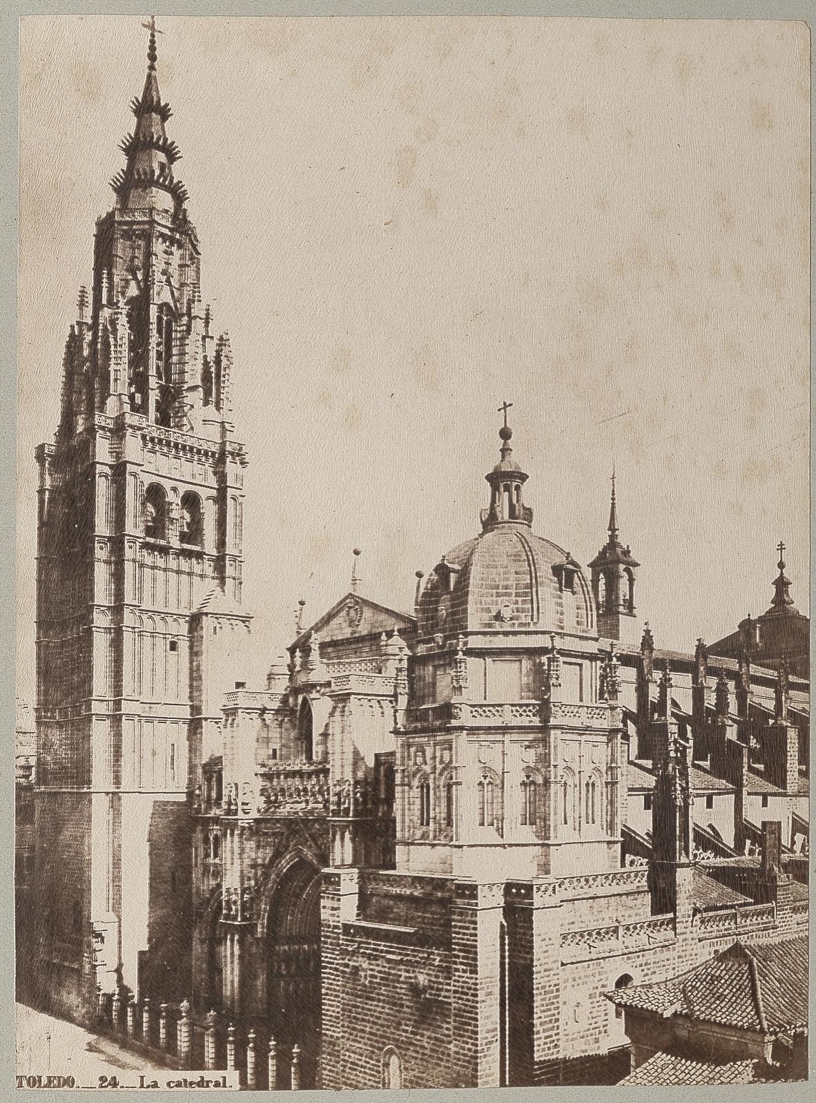 Catedral hacia 1870 © Archives départementales de l'Aude (Foto de Jean Laurent)