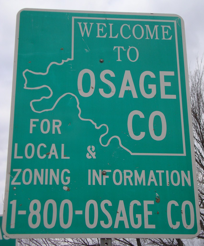 Welcome To Tulsa Sign: Welcome To Osage County Sign (Ralston, Oklahoma)