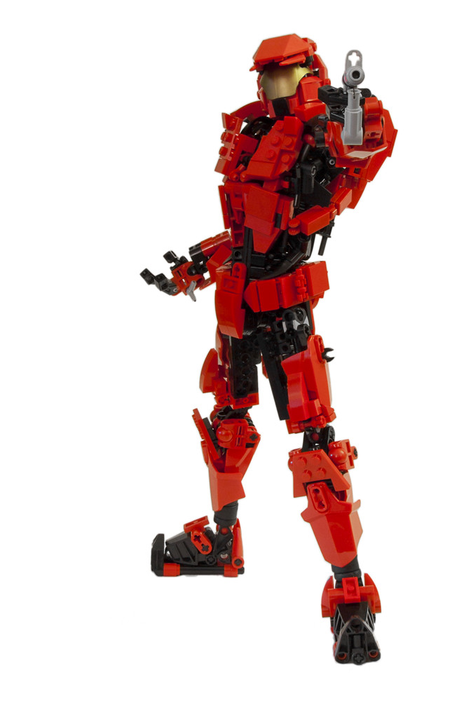 Sarge from red vs blue last july brickfiesta was held in - Lego spartan halo ...
