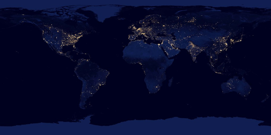 City lights 2012 flat map nasa image acquired april 18 flickr city lights 2012 flat map by nasa goddard photo and video gumiabroncs Gallery