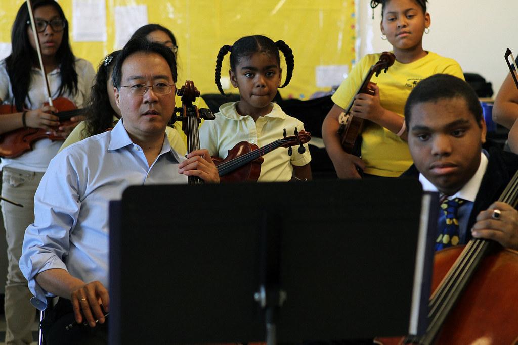 Famed Cellist Yo Yo Ma Inspires Students At Roxbury 39 S