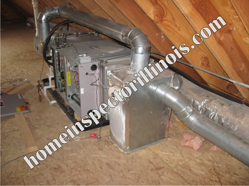 Http Homeinspectorillinois Com Attic Furnace Installati