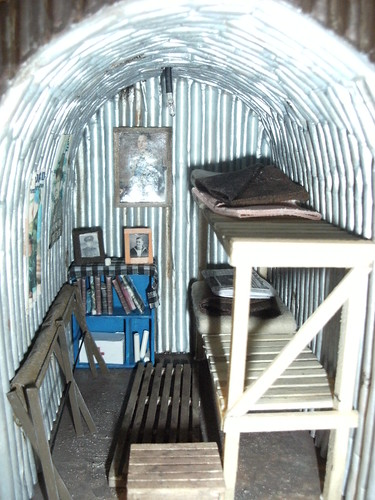 Ww2 Anderson Shelter Inside With The Light Off Showing