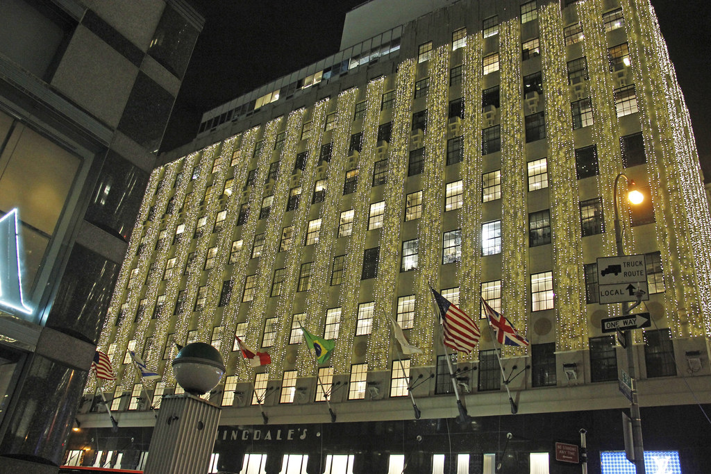 Lexington Picture Of Bloomingdales Lit For Christmas At 1000 Third Avenue 59th Street Amp