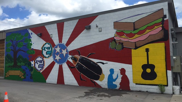 Mural at Mitchell's, Nashville, TN