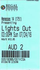 Lights Out ticketstub