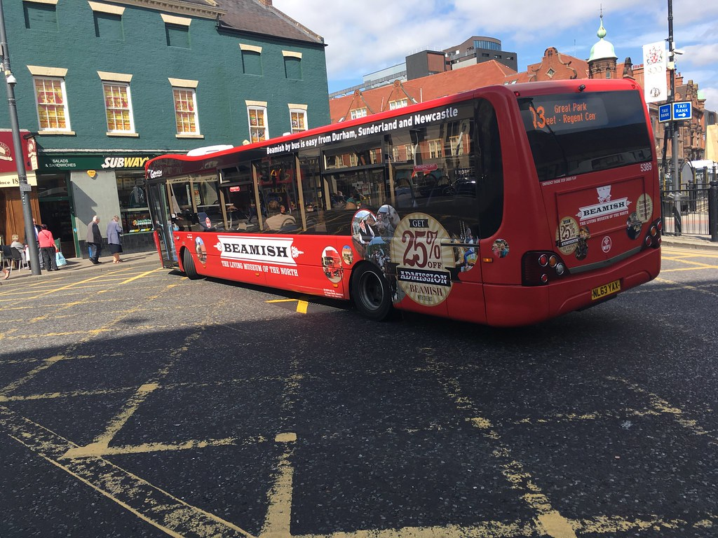 go north east 5389 beamish branded on quaylink q3 | ryan lawrence