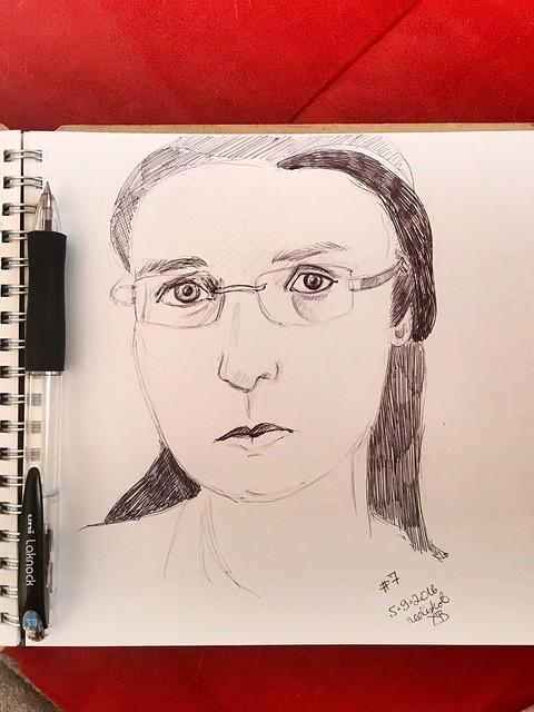 Sketchy selfie #7