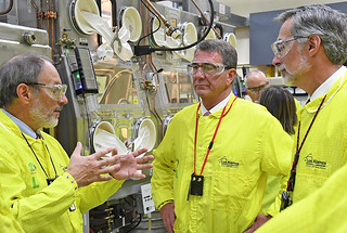 Secretary of Defense reviews plutonium operations at the Lab