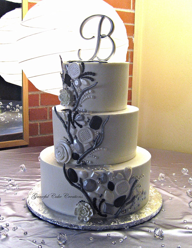 Silver Wedding Cake Topper Near