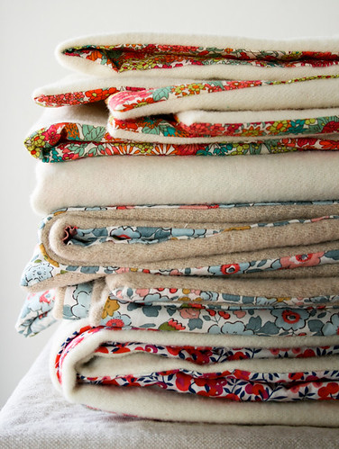 Molly's Sketchbook: Liberty and Wool Lap Blankets | by the purl bee
