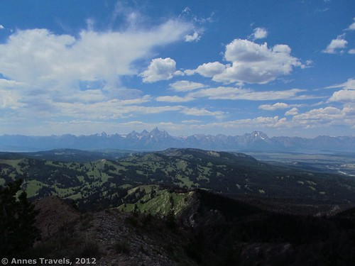 View of the Tetons from Mt. Leidy, Wyoming