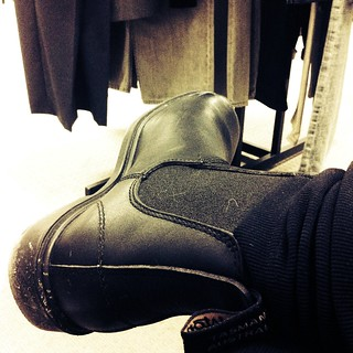 Out shopping with @palinode in my new Blundstones. I'd sleep in these if he'd let me. | by Schmutzie