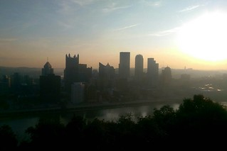 Pittsburgh skyline at dawn