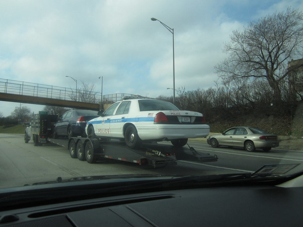 Police Car Towed Police Car Being Towed