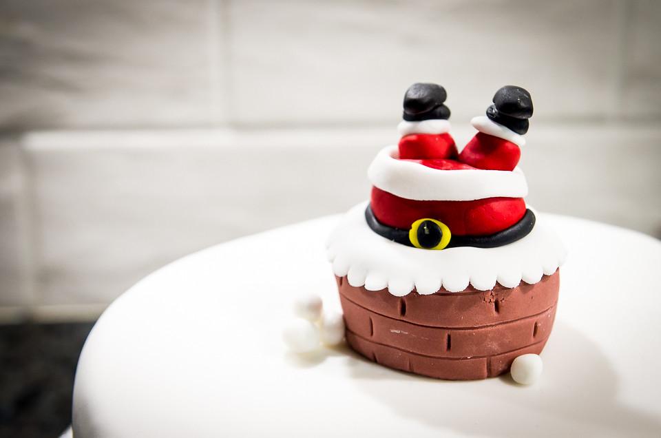 When santa got stuck in the chimney cake christmas cake Santa stuck in chimney cake