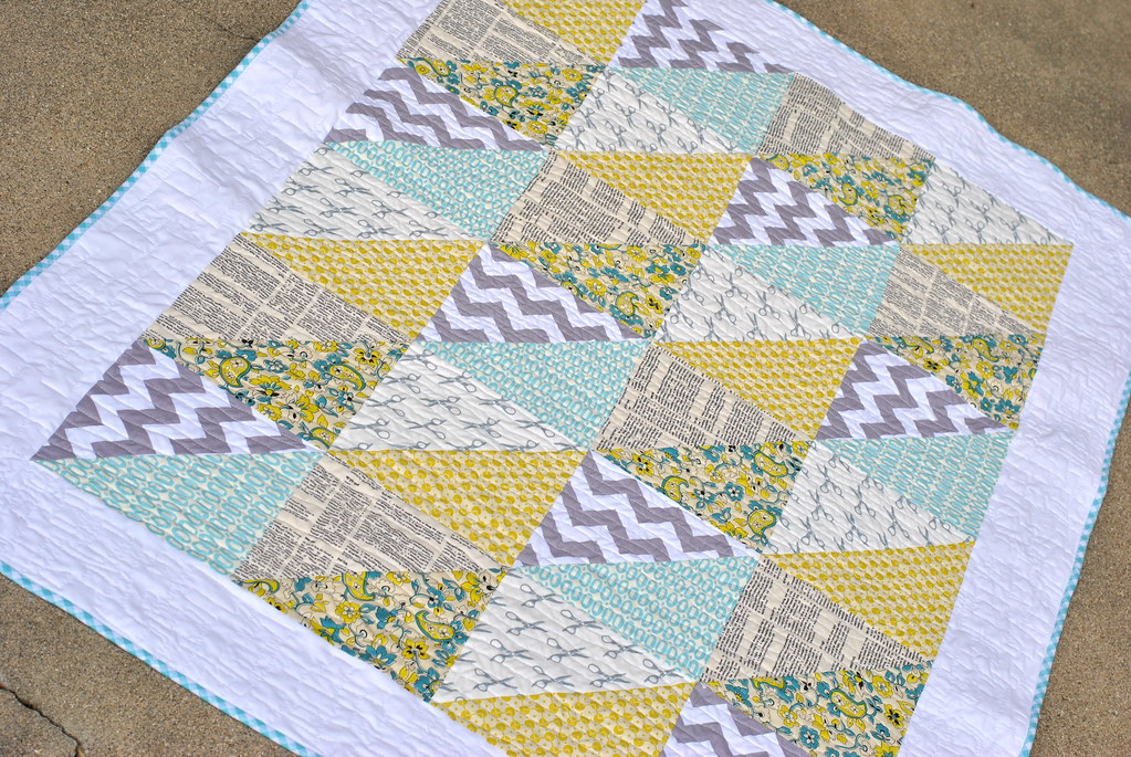 triangles baby quilt tutorial for this fast 87265