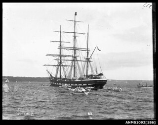 Three masted barque ALTCAR at anchor, Sydney Harbour | by Australian National Maritime Museum on The Commons