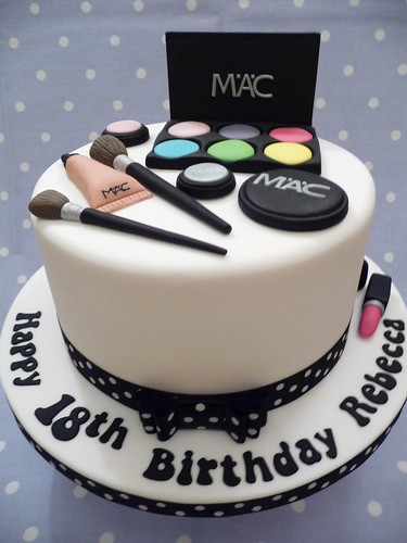 Mac Makeup Cake 18th Birthday Cake For A Young Lady