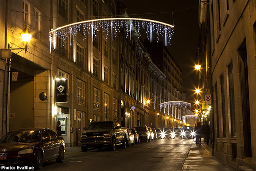 christmas lights on st paul street west | by Eva Blue