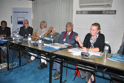 (from left to right) Abusaleh Shariff, Professor, US-India Policy Institute, Washington and Member-Secretary, Sachar Committee, Shri Salman Khursheed, Union Minister for External Affairs, Government of India, Wajahat Habibullah, Chairperson of the Nationa | by UNDP in India