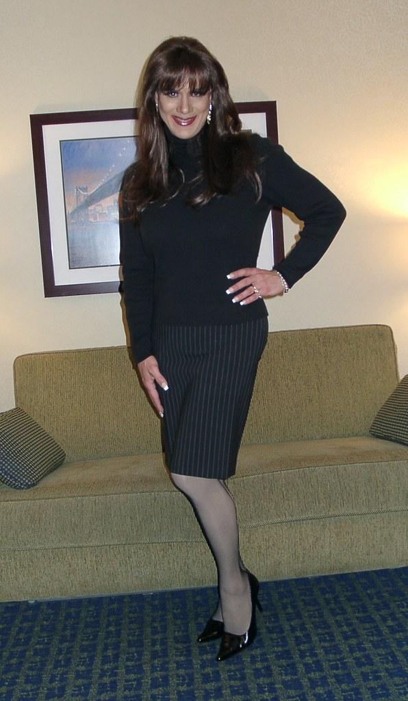 Pinstripe Skirt 3 Michelle Monroe Flickr