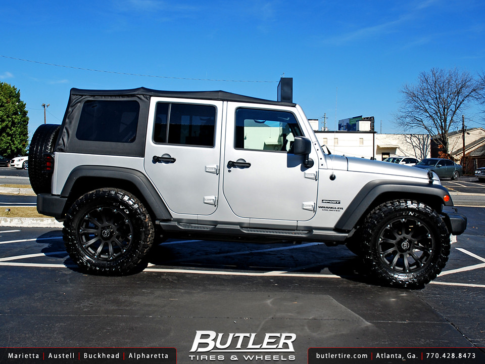 White Jeep Wrangler With Black Rims >> Jeep Wrangler with 20in Black Rhino Sidewinder Wheels | Flickr