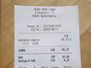 how to ask for a taxi receipt in german