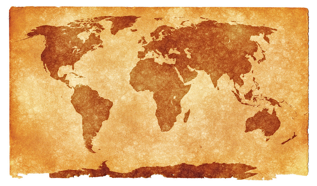 world grunge map sepia grunge textured world map on vint flickr. Black Bedroom Furniture Sets. Home Design Ideas