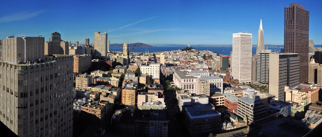 San Francisco Panorama Looking North From The Grand Hyat