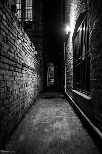 Door At End Of Dark Alleyway An Alley Or Alleyway Is A
