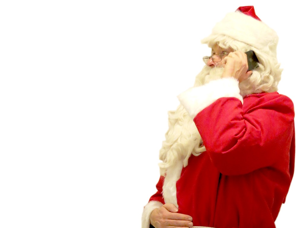 Santa Claus on the phone | Ideal for an e-card or ordinary ...