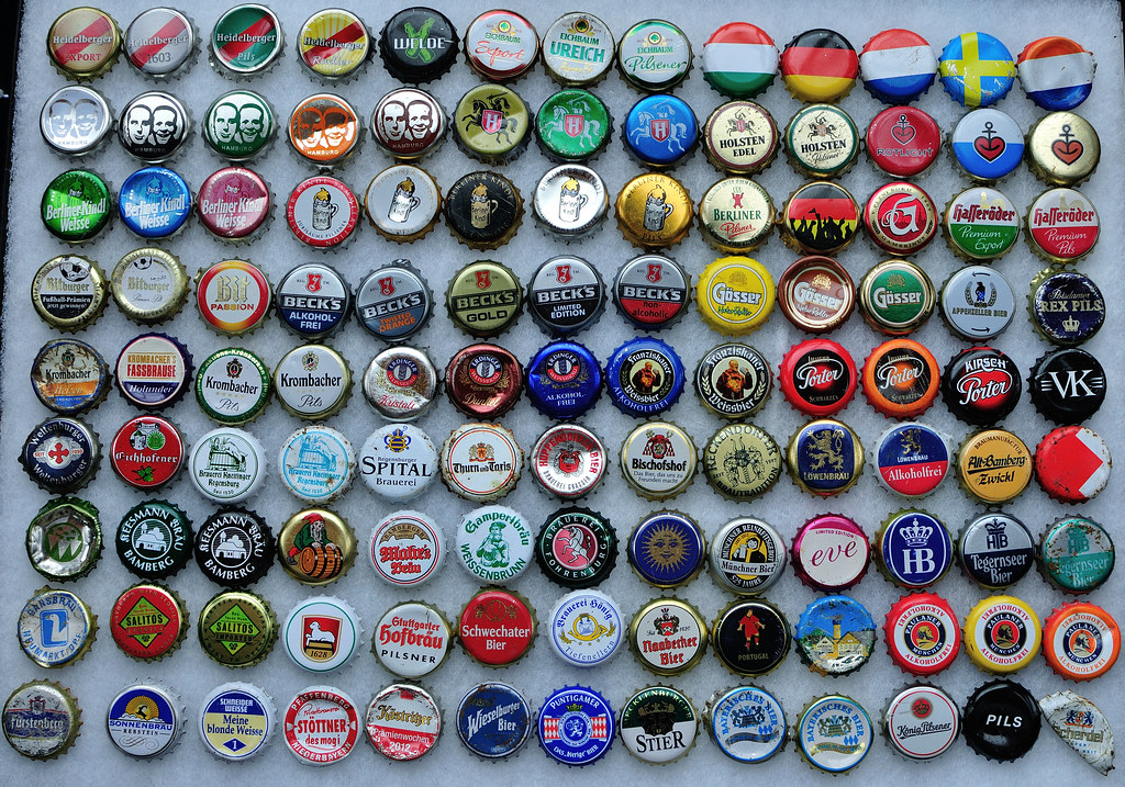 German Found Bottle Caps Unsurprisingly The Majority Of