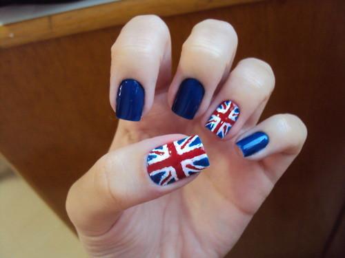 Uk Flag Nail Art Gabrielabraga Flickr
