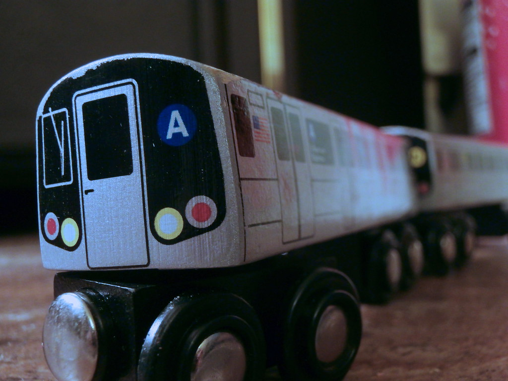 The Good Ride >> MTA Wooden Trains | Got a good deal on these 2 wooden trains… | Flickr