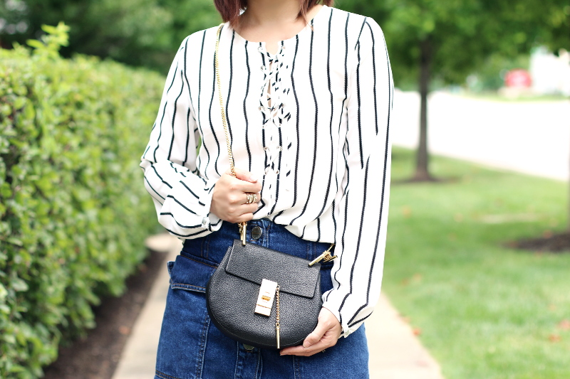 Versona-lace-up-stripes-top-denim-skirt-chloe-drew-bag-5