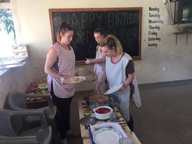 Tracy, Cathryn & Roisin helping