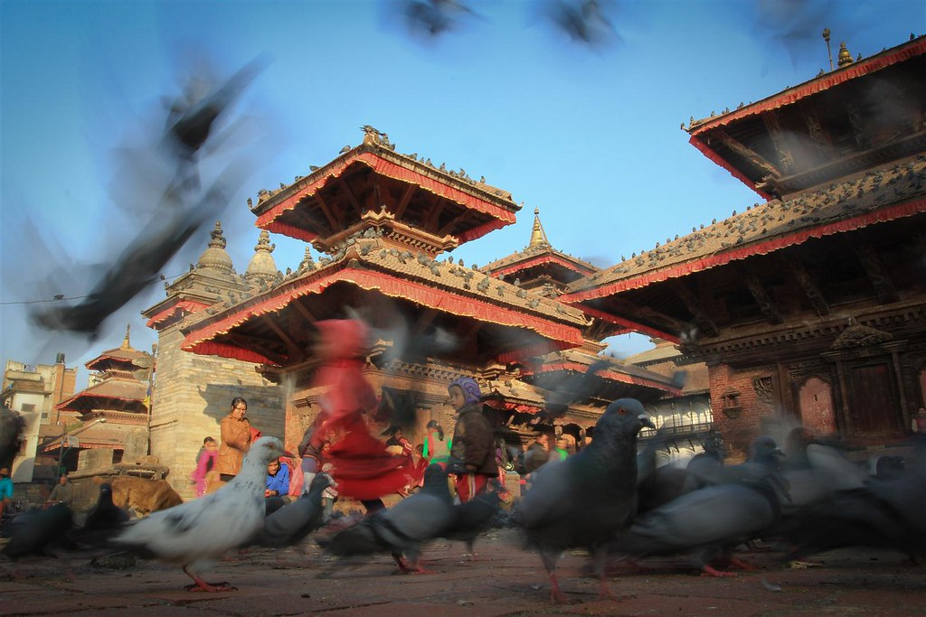 All historical buildings in this picture I took on Kathmandu's Durbar Square, survived the quake!