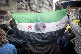 Demonstration against Assad regime in Aleppo, Syria | by FreedomHouse