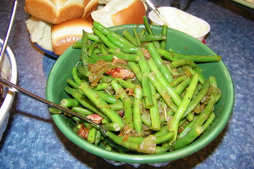 Sautéed Green Beans and Jarred Onions with Bacon | by cseeman