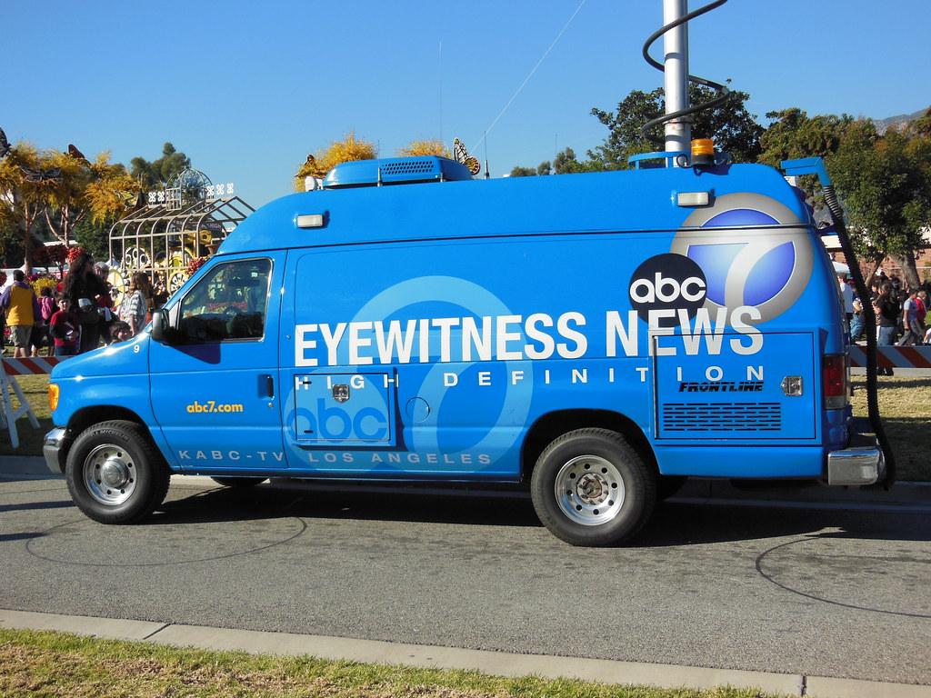KABC TV Channel 7 Eyewitness News Van