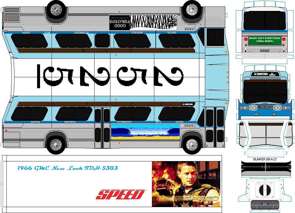 ... Santa Monica Intercity Bus Line GM Fishbowl SPEED Film bus 2525 | by  Kal-El