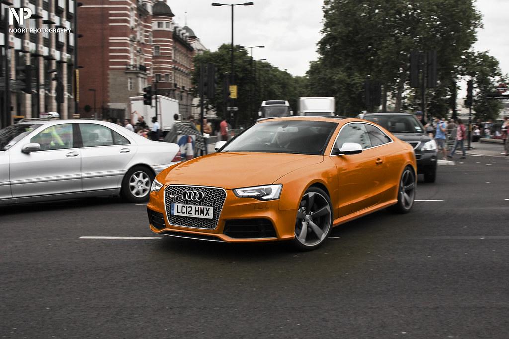 Audi Rs5 Orange High Polish 2013 Last Summer I Saw This