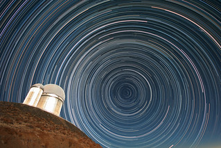 Star trails over the ESO 3.6-metre telescope | by European Southern Observatory