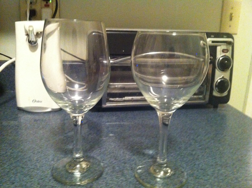 2 large wine glasses 1 each bagel toaster 5 1 for for Large white wine glasses