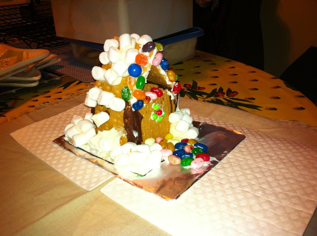 Gingerbread House Made Of Cake